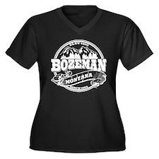 Bozeman Old Circle Women's Plus Size V-Neck Dark T
