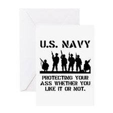 Navy Protect Greeting Card