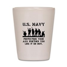 Navy Protect Shot Glass