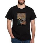 Winter's Wild Swans Black T-Shirt