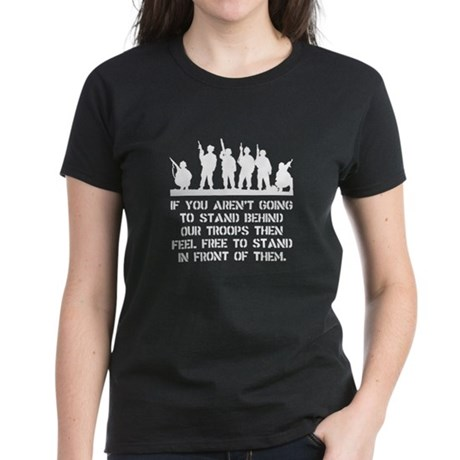 Stand Behind Troops Women's Dark T-Shirt