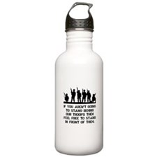 Stand Behind Troops Water Bottle