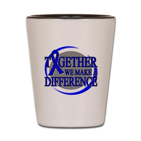 Colon Cancer Support Shot Glass