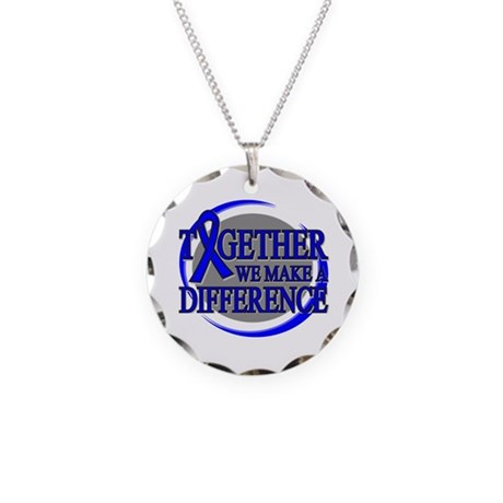 Colon Cancer Support Necklace Circle Charm