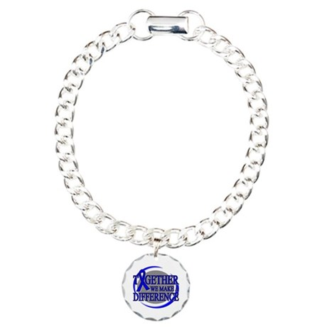 Colon Cancer Support Charm Bracelet, One Charm