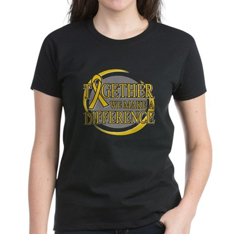 Childhood Cancer Support Women's Dark T-Shirt