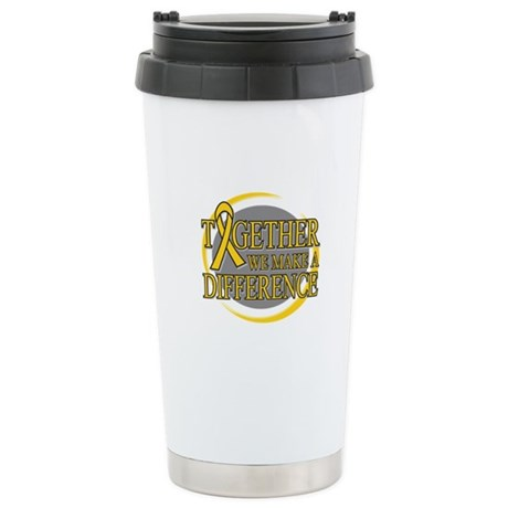 Childhood Cancer Support Ceramic Travel Mug