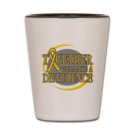 Childhood Cancer Support Shot Glass