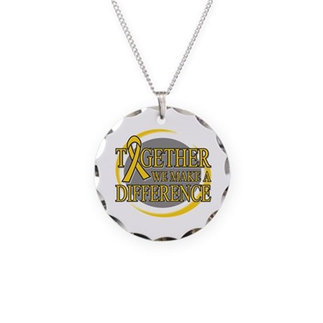 Childhood Cancer Support Necklace Circle Charm