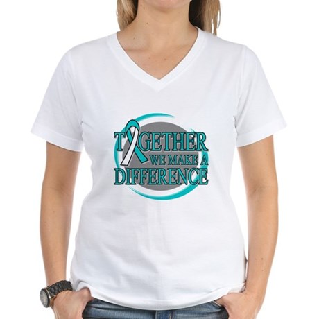 Cervical Cancer Support Women's V-Neck T-Shirt