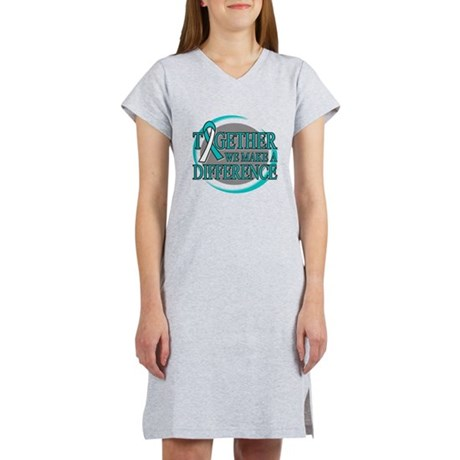 Cervical Cancer Support Women's Nightshirt