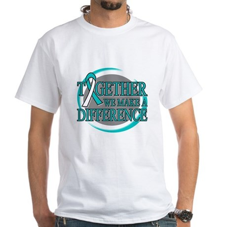Cervical Cancer Support White T-Shirt