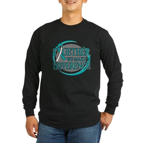 Cervical Cancer Support Long Sleeve Dark T-Shirt