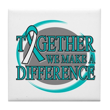 Cervical Cancer Support Tile Coaster