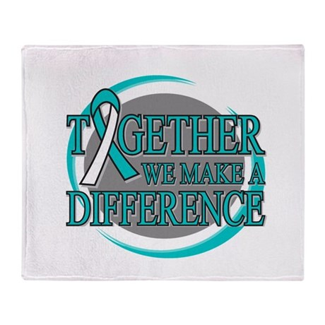 Cervical Cancer Support Throw Blanket