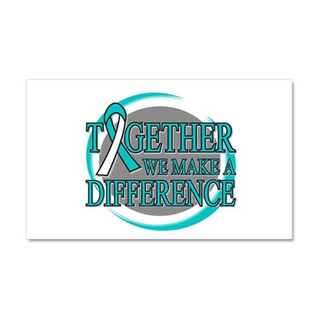 Cervical Cancer Support Car Magnet 20 x 12
