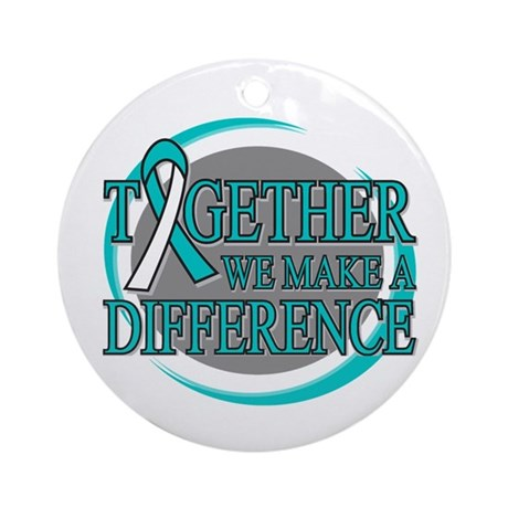 Cervical Cancer Support Ornament (Round)