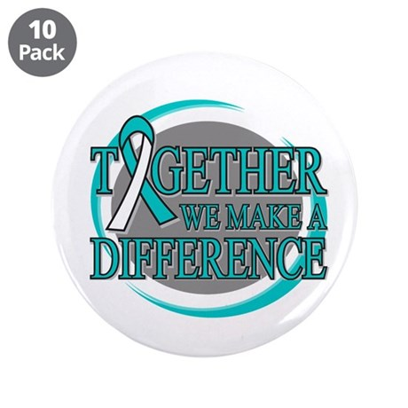 "Cervical Cancer Support 3.5"" Button (10 pack)"