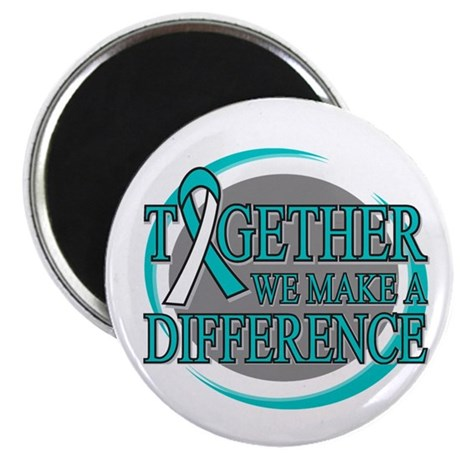 "Cervical Cancer Support 2.25"" Magnet (100 pack)"