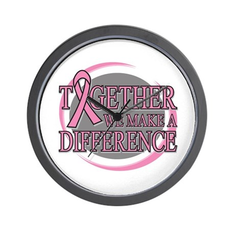 Breast Cancer Support Wall Clock