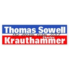 Sowell-Krauthammer Car Sticker