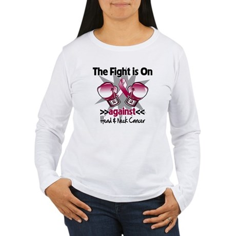 Fight Head Neck Cancer Women's Long Sleeve T-Shirt
