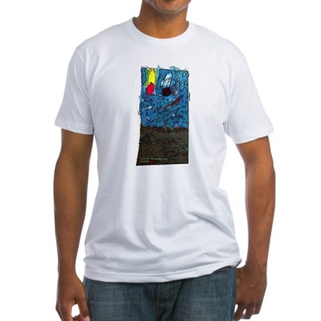 Two Asteroids Fitted T-Shirt