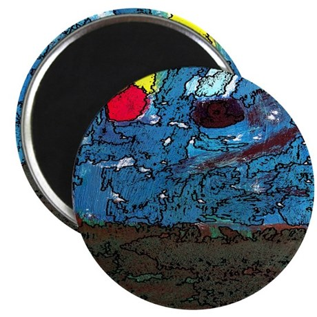 "Two Asteroids 2.25"" Magnet (10 pack)"