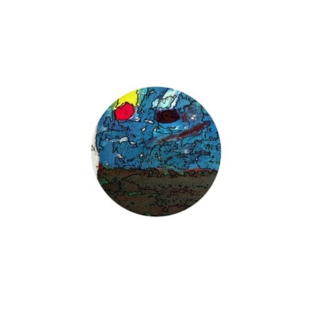Two Asteroids Mini Button (100 pack)