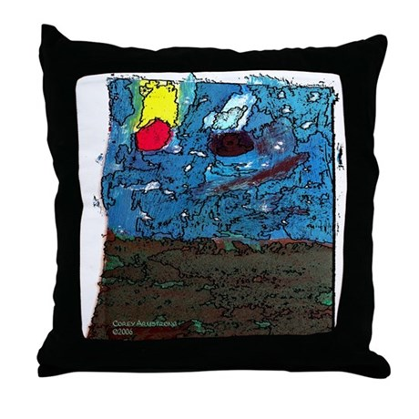 Two Asteroids Throw Pillow