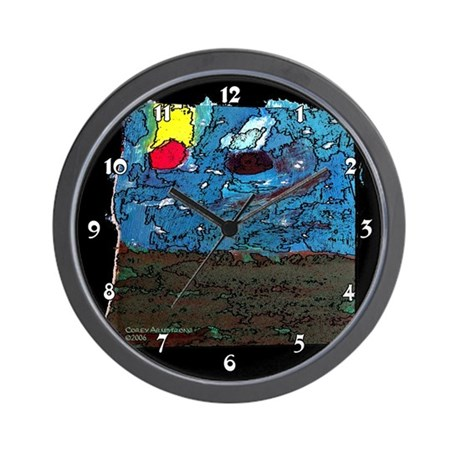 Two Asteroids Wall Clock