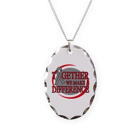 Brain Tumor Support Necklace Oval Charm