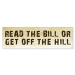 Read The Bill Sticker (Bumper 10 pk)