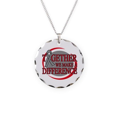 Brain Cancer Support Necklace Circle Charm