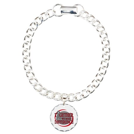 Brain Cancer Support Charm Bracelet, One Charm