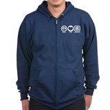 Peace Love Radiology Zip Hoody