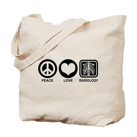 Peace Love Radiology Tote Bag