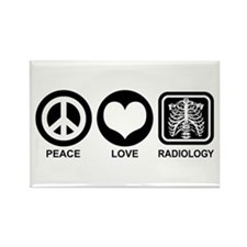 Peace Love Radiology Rectangle Magnet