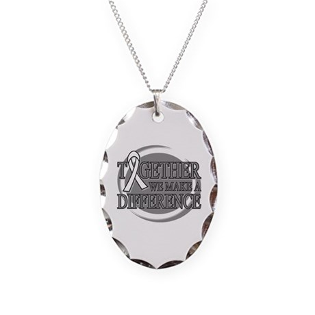Bone Cancer Support Necklace Oval Charm