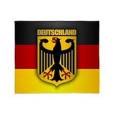 """""""Deutschland Gold"""" Throw Blanket"""