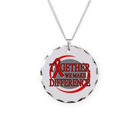 Blood Cancer Support Necklace Circle Charm