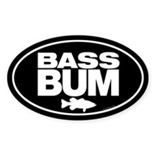 Bass Bum Oval Decal Decal