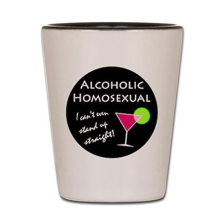 Alcoholic Homosexual Shot Glass