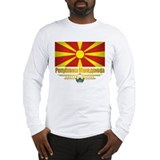 Macedonian Flag Long Sleeve T-Shirt