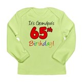 Grandpa's 65th Birthday Long Sleeve Infant T-Shirt