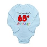 It's Grandma's 65th Birthday Long Sleeve Infant Bo