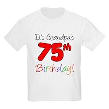 It's Grandpa's 75th Birthday T-Shirt