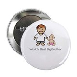 "World's Best Big Brother"" (pink) Button"