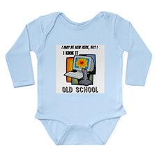 I Kick It Old School Long Sleeve Infant Bodysuit