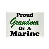 Proud Grandma of a Marine Rectangle Magnet